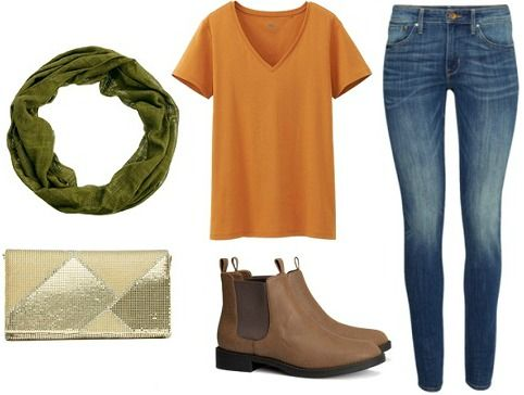 """Outfits Inspired by Kobayashi Kiyochika's """"Persimmons and White-Eyes"""". Casual Globetrotter."""