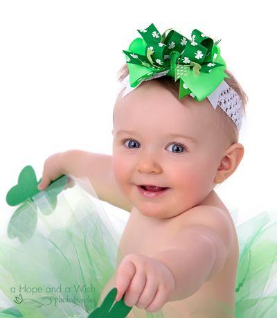 St Patricks Day Headband Newborn Headbands Baby Headband Baby Headbands Infant Headband Green Headband Bow Headband