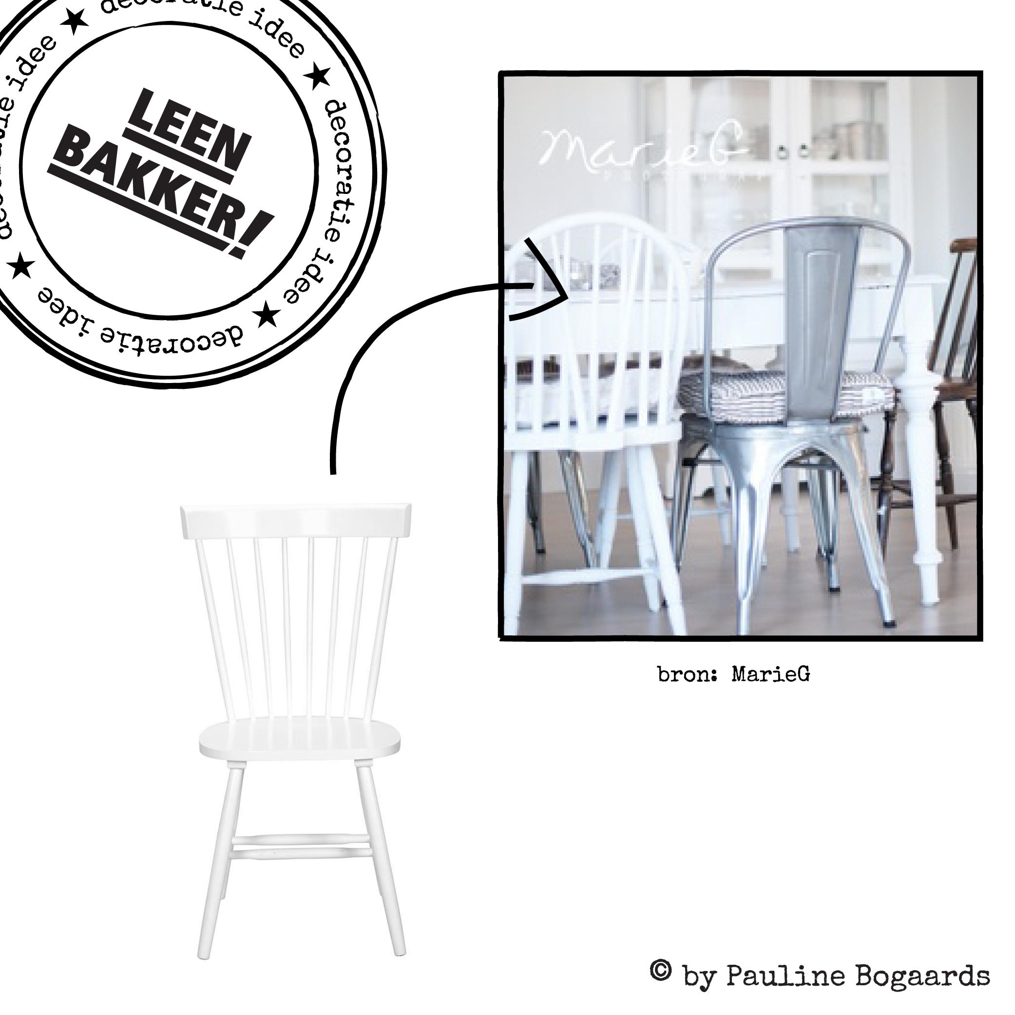 Decoratie ideen leenbakker pauline bogaards witte stoel for Barok eetstoelen