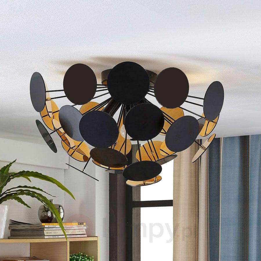 Kinan Czarno Lampa Sufitowa Sufitowe W Złotym Kolorze 2019Lampy Qrsdth