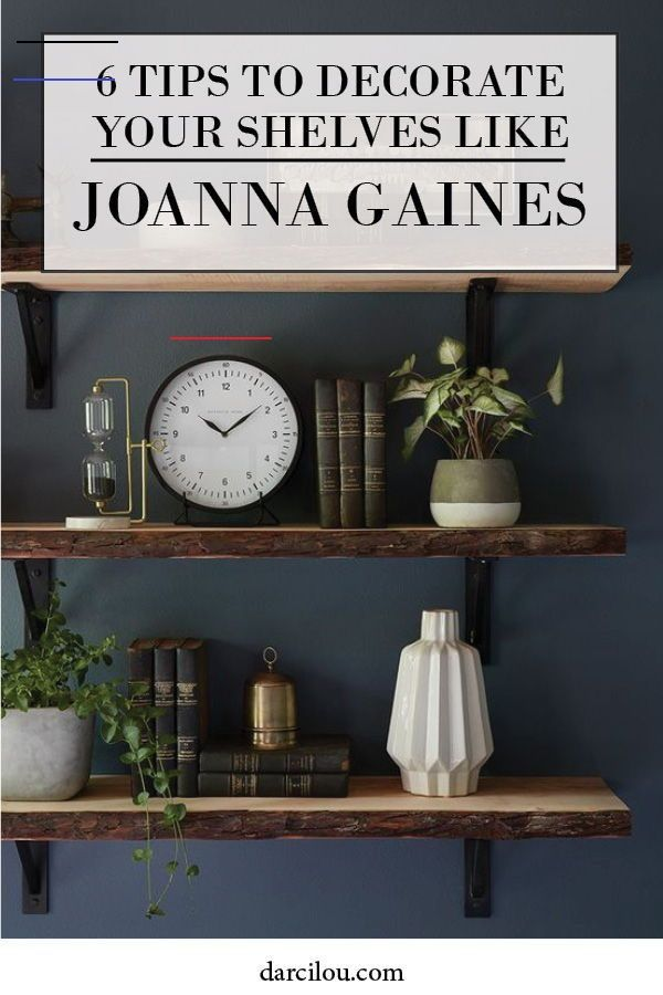 Decorating shelves can seem easy to do until you try it. I have some great ideas and tips for you to get the farmhouse style look like Joanna Gaines on your open shelving! I go over how to use a mirror, how to layer and much more! So get the Fixer Upper look now! #Homedecor #Farmhouse #JoannaGaines<br>