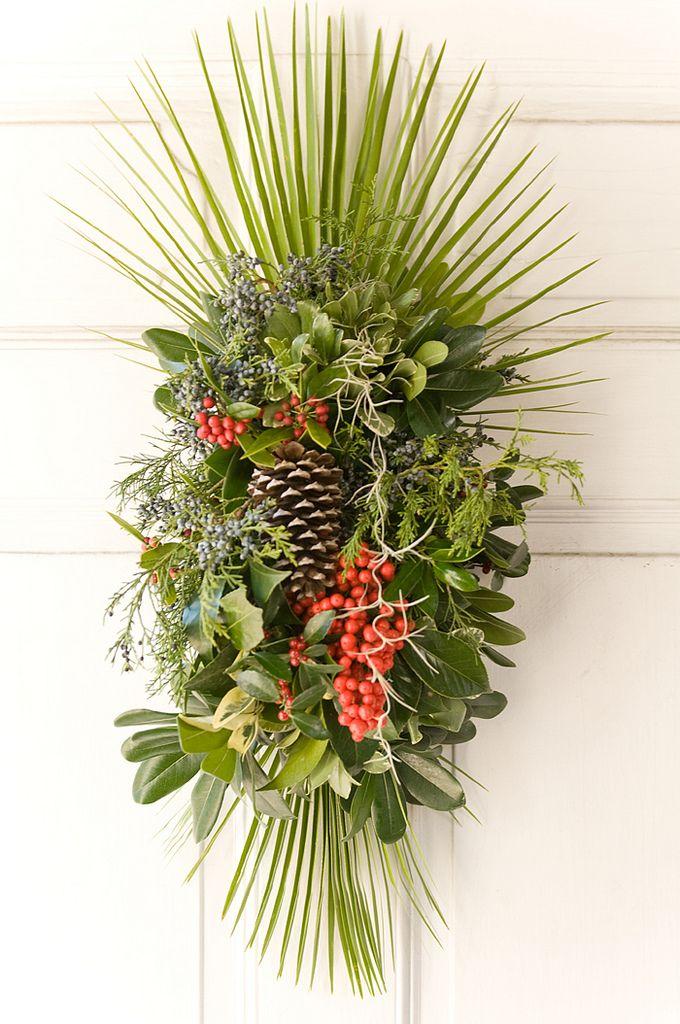 front door winter arrangement
