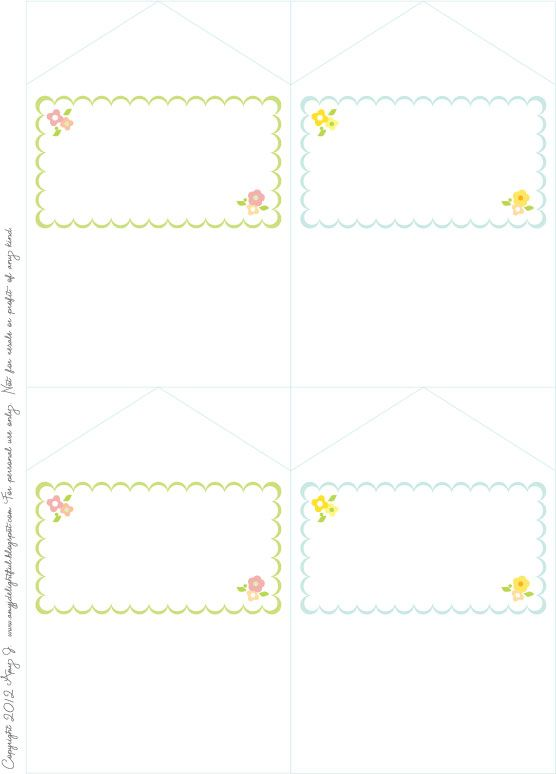 Delightful Distractions: Mini Envelope Cards with Seals... Printable
