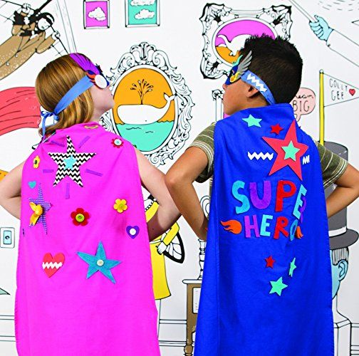 Amazon Com Seedling Design Your Own Superhero Cape Launchpad Design Your Own Superhero Diy Superhero Cape Create Your Own Superhero