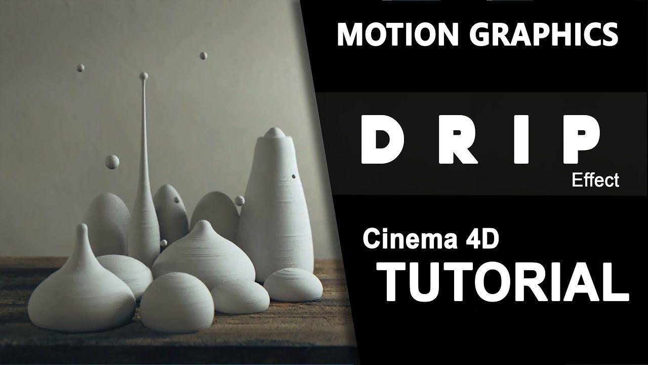 Drip  Motion Graphics  No Plugins  Cinema 8D Tutorial  Cinema