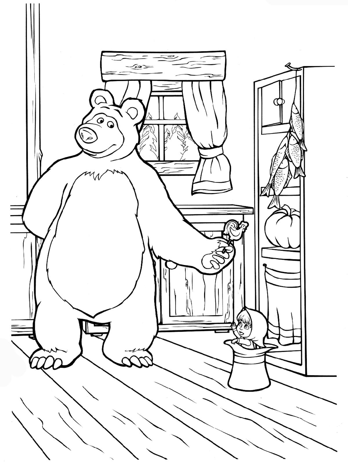 Masha And The Bear Russian Printables Ile Ilgili Grsel Sonucu