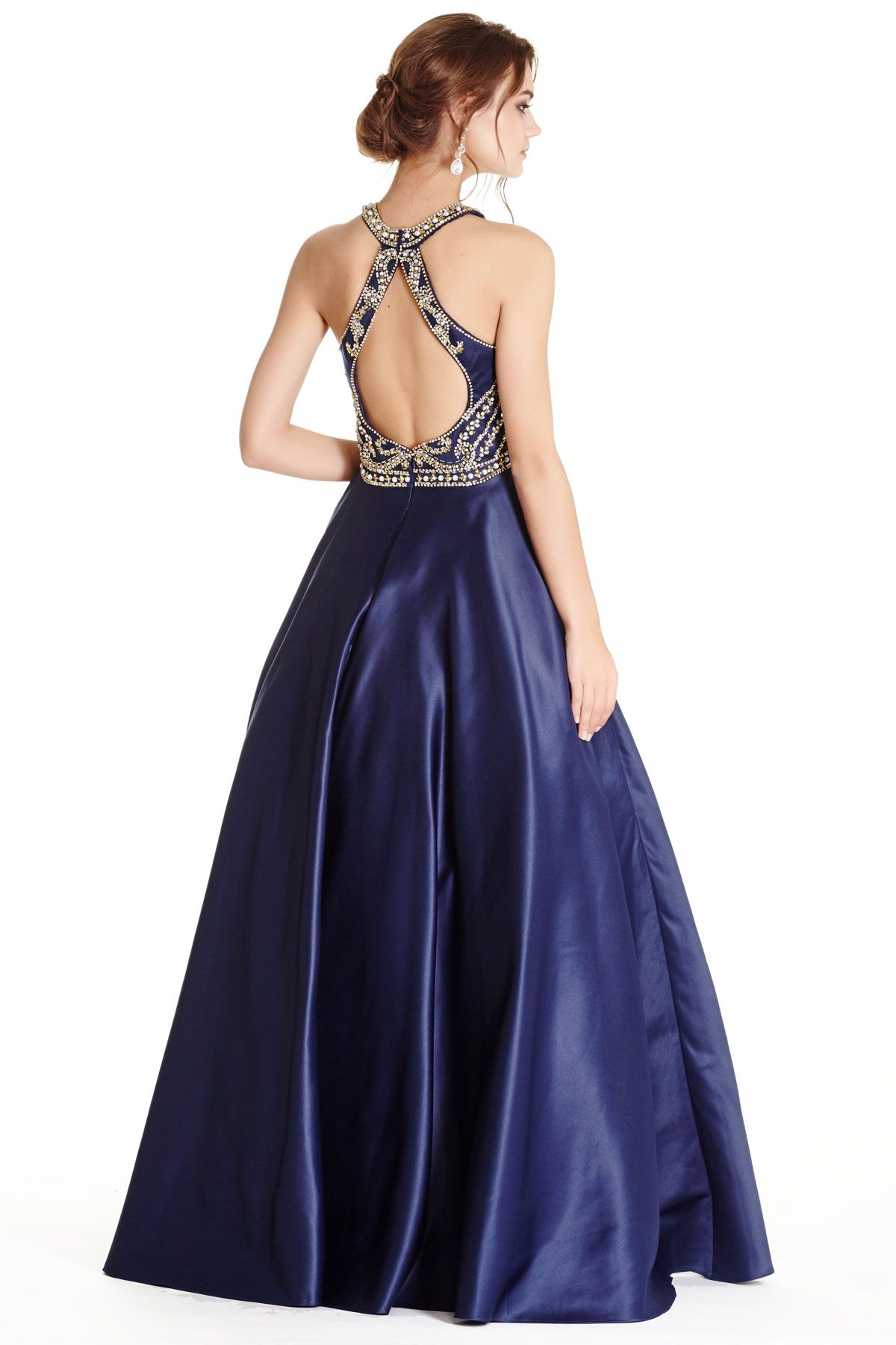 Navy long prom dress with cutout back patterns pinterest