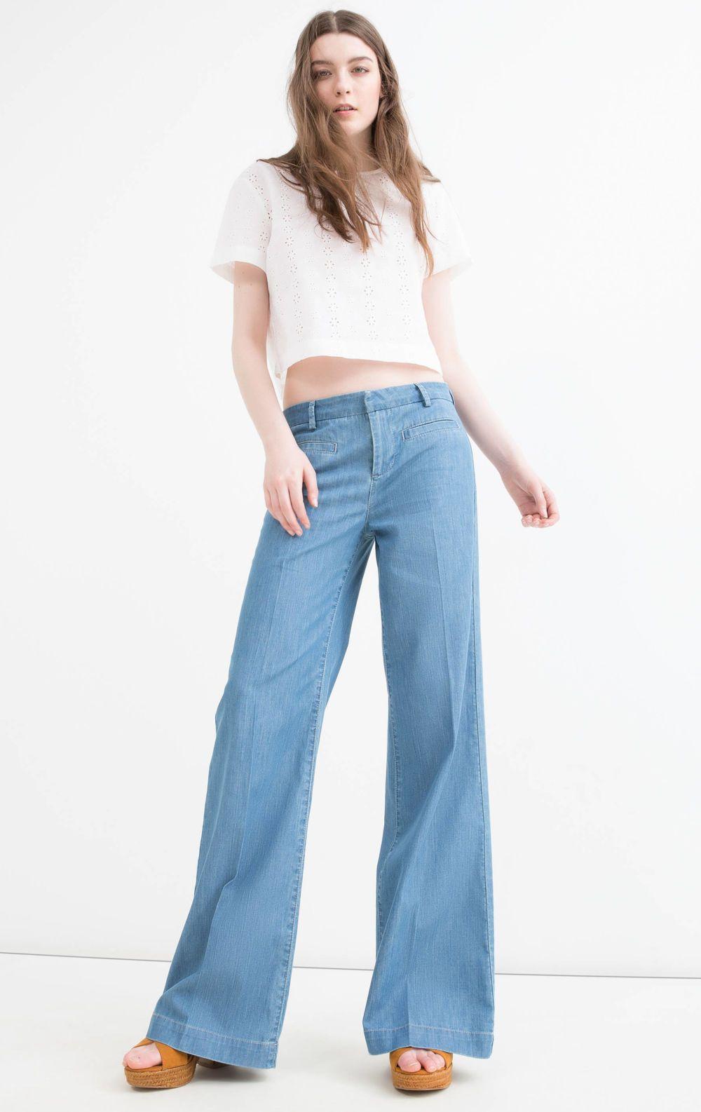 Jeans flare fit a vita alta, Denim
