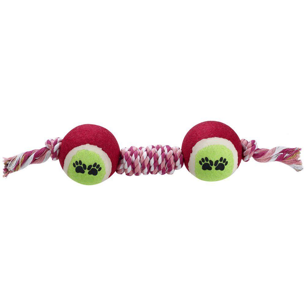 Afuby Dog Chew Toys Dog Rope Teething Toys 11 9 With 2 Balls Tug