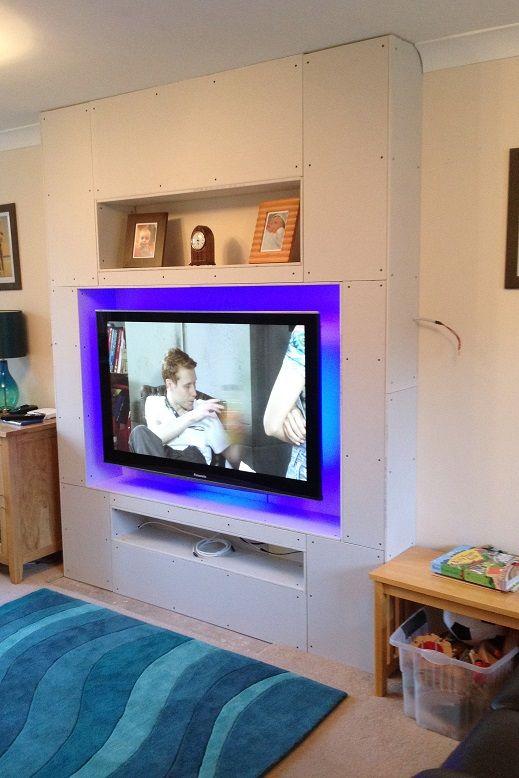 Living Room Tv Setups: Living Room False Chimney Build.....