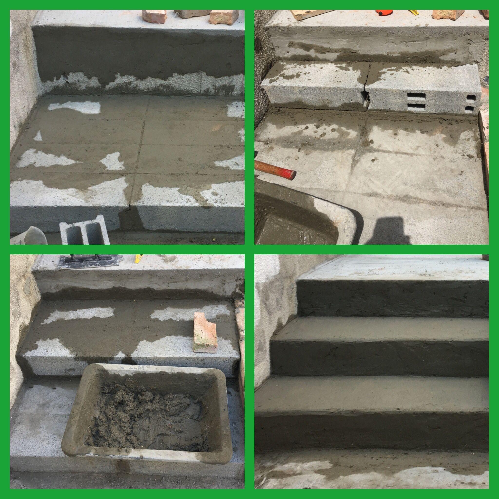 12 Parpaings Un Escalier Pour Terrasse Escalier De Jardin Escalier Exterieur Decoration Jardin