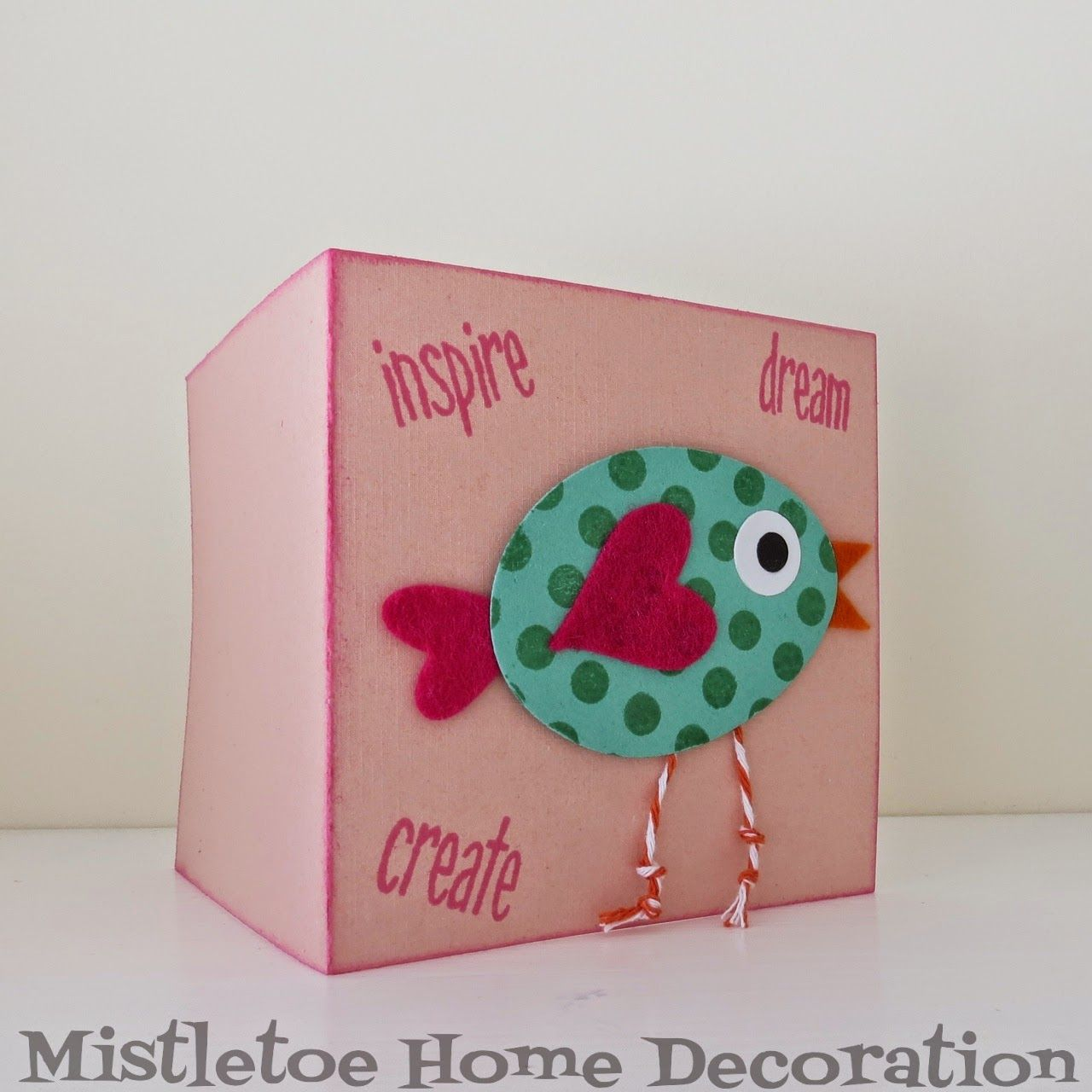 Diy Birthday Card With A Polka Dot Bird The Beak The Wing And The