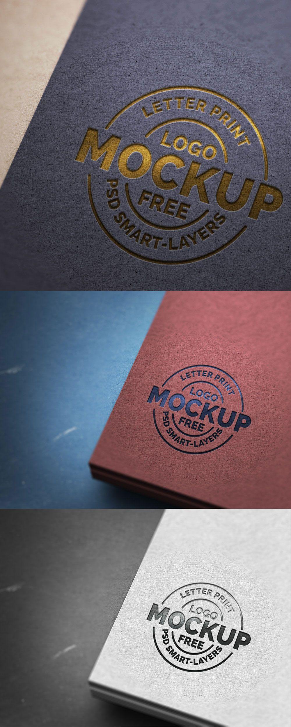 Download Paper Letterpress Logo Mockup Psd Graphicsfuel Disenos De Unas Proyectos De Diseno Sellos