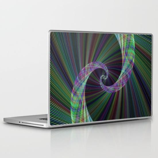 Wormhole laptop skin