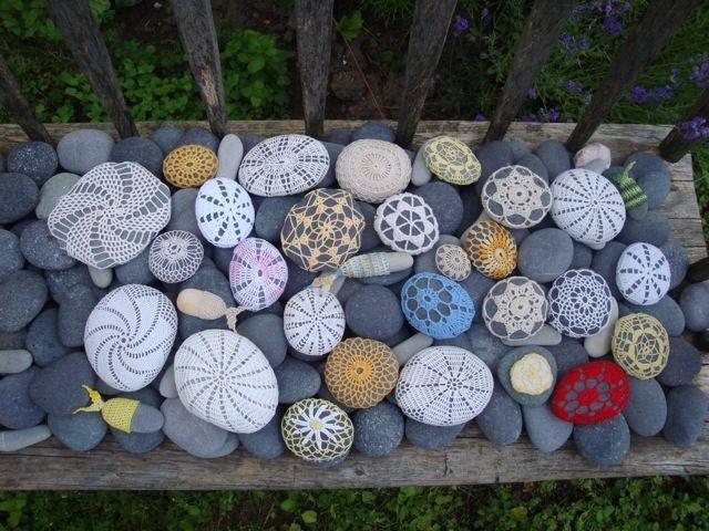 Stones In The Garden Amazing doilies pinterest resurrection fern fern and crochet resurrection fern crochet stonecool rocksgarden workwithnaturefo
