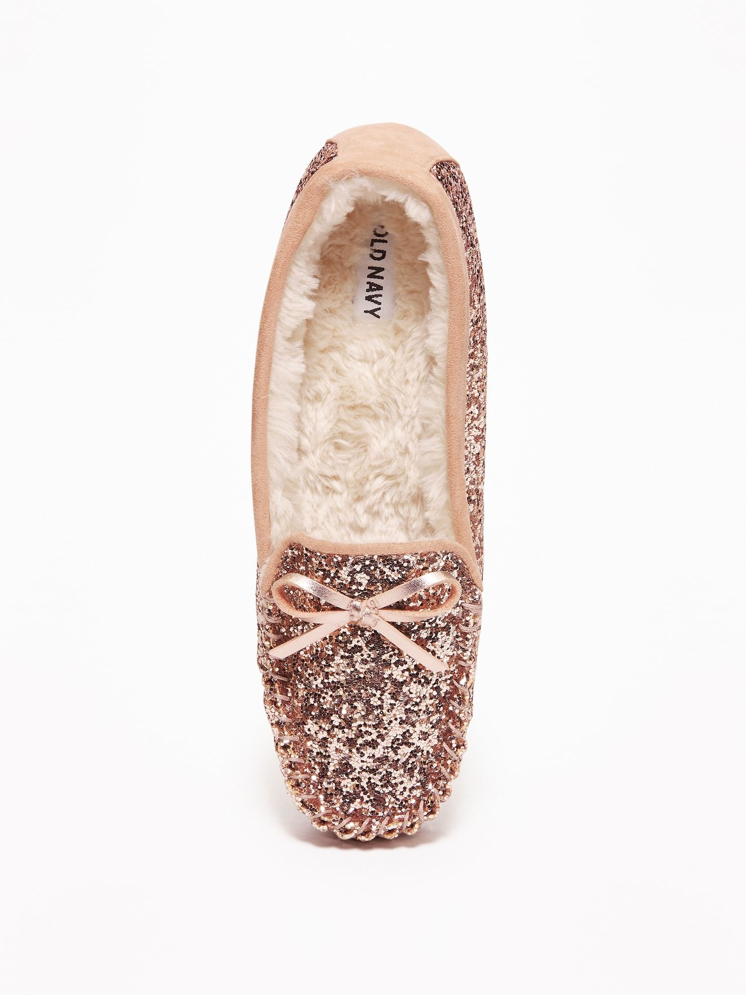 b8c1c5c46c429 Glitter Sherpa-Lined Moccasin Slippers for Women in 2019 | wishin ...