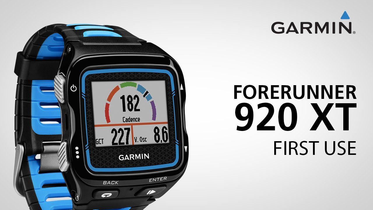 Garmin Forerunner 920XT Getting Started Garmin fitness