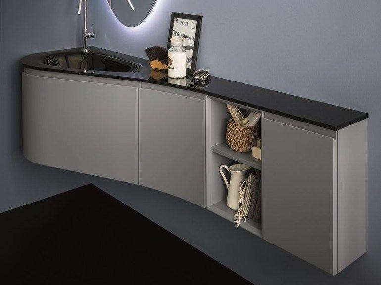 VERSA Meuble sous-vasque du0027angle by Birex design Imago Design
