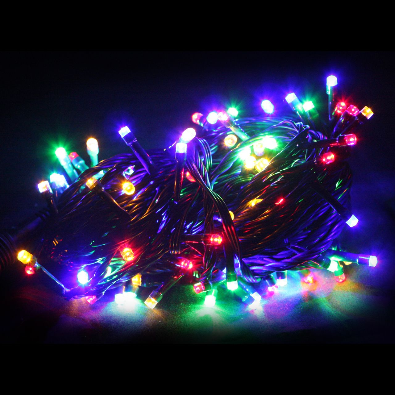 100pc connectable led fairy lights multi colour christmas elves part of the connectable ready
