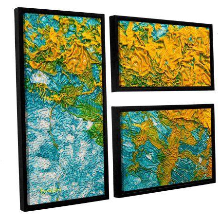 ArtWall Byron May Summer Breeze 3-Piece Floater Framed Canvas Flag Set, Size: Oversized 41 inch+, Orange