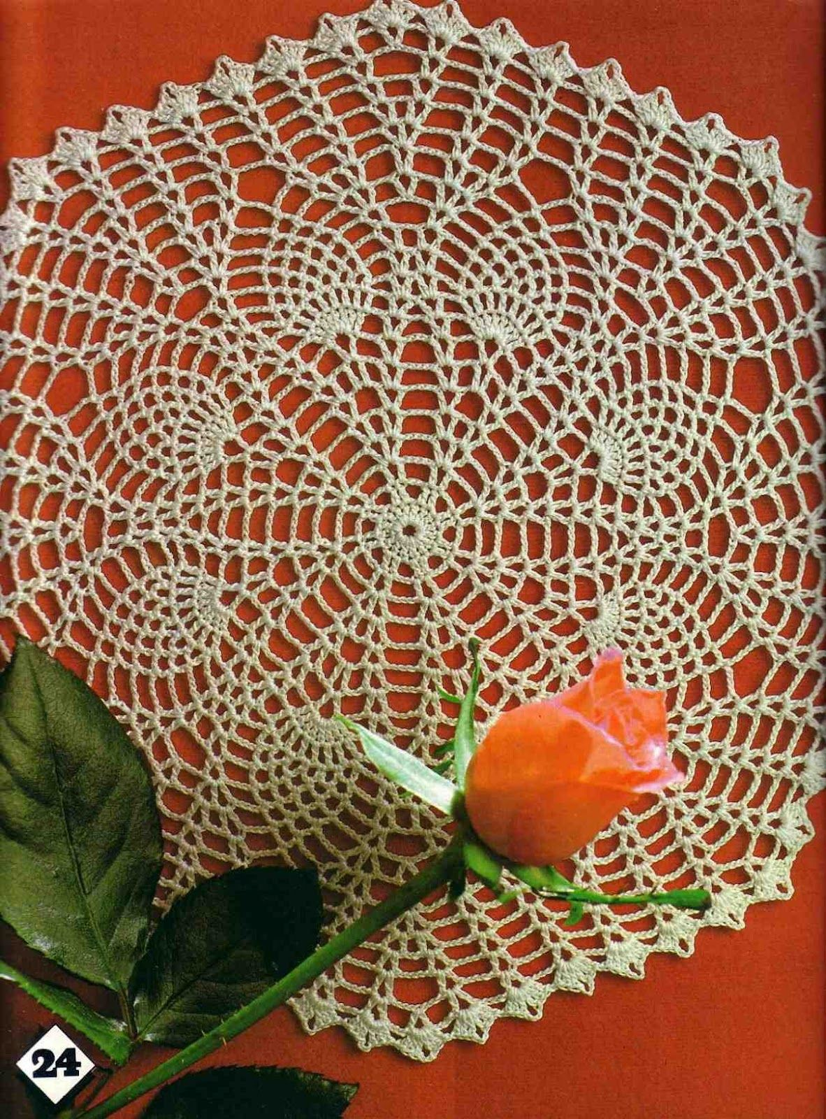 Awesome free crochet pineapple doily patterns | Free Crochet ...