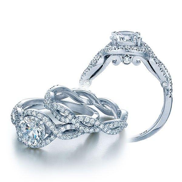 Halo Infinity Round Brilliant Cut Diamond Verragio Insignia ...