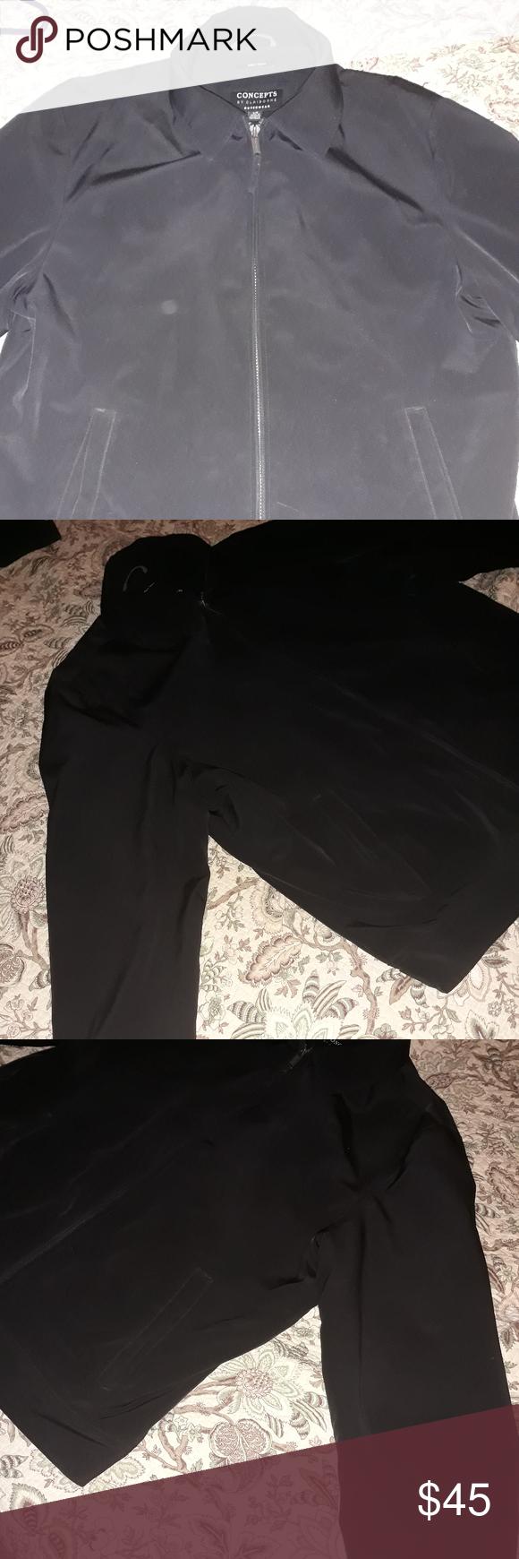 Concepts By Claiborne Outerwear Black Jacket Concepts By Claiborne Outerwear Black Jacket Size Large Claiborne Jackets Black Jacket Claiborne Clothes Design [ 1740 x 580 Pixel ]