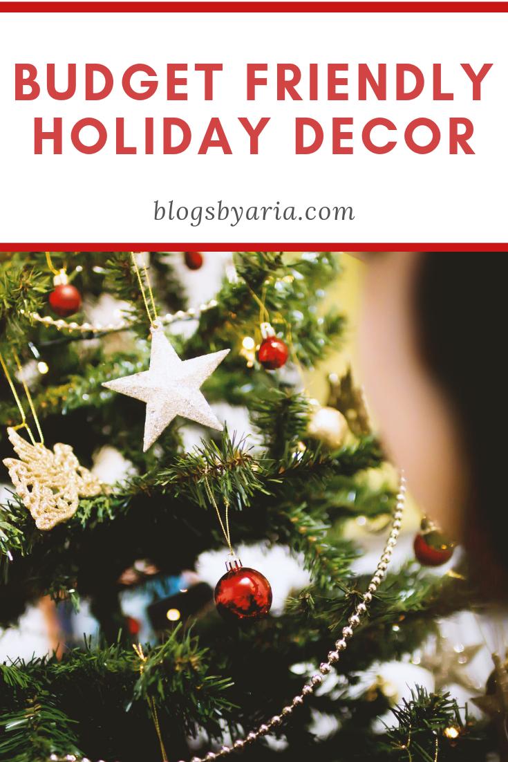 Holiday Decorating On A Budget Fake Christmas Trees Christmas
