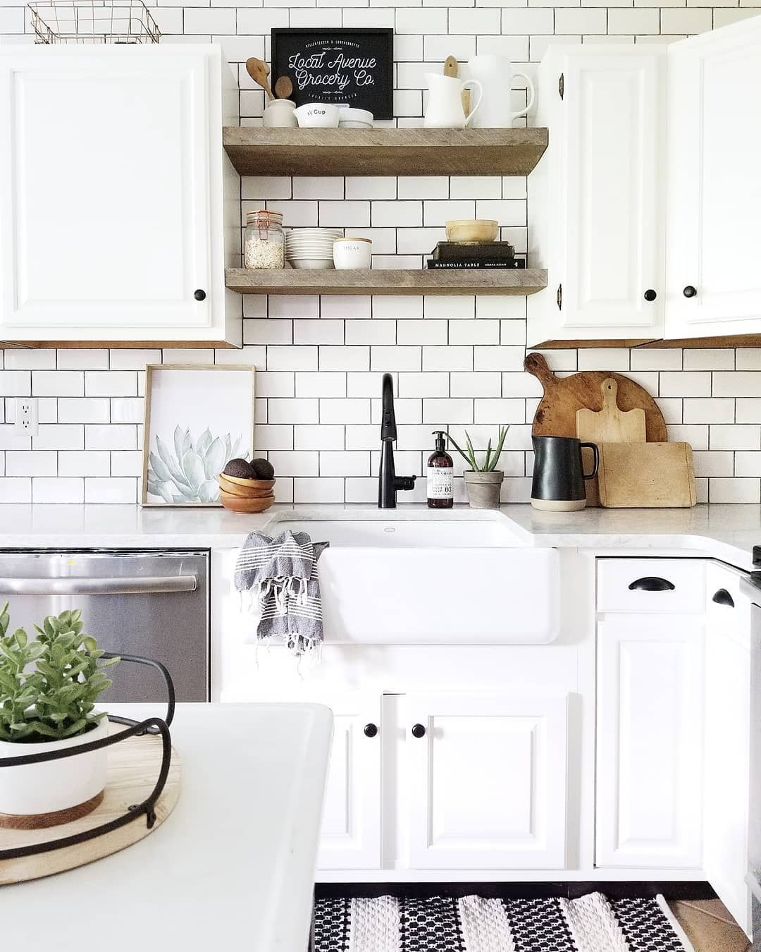 Instagram  csimple summer vibes  new plant by the sink avacados in bowl doing double duty as decor and simple throw rug swap with home    also is marie kondo killing collecting homes interiors pinterest rh