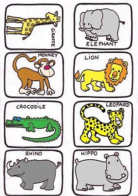 Bilingual Al Yussana Different Types Of Animals Juegos En Inglés Para Niños Loteria En Ingles Juegos Ingles Infantil