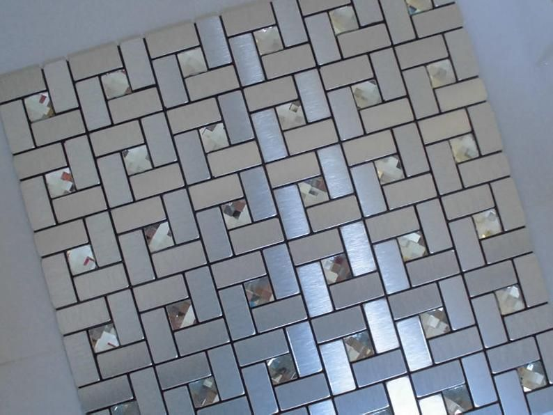 Peel And Stick Tiles Self Adhesive Mosaic Easy Tile Etsy In 2020 Stick On Tiles Peel And Stick Tile Easy Tile