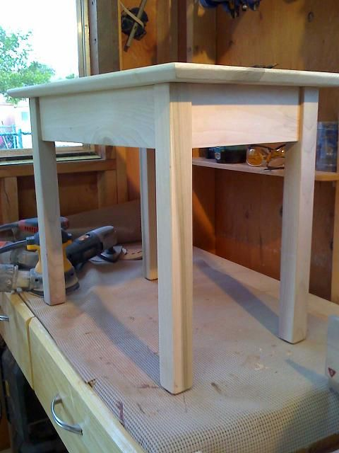 Shaker Style End Table Kreg Jig Owners Community Wood