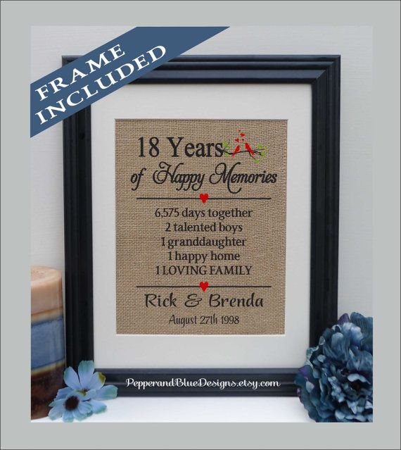 18th Wedding Anniversary Gifts 18 Years Married Together Gift For Ann402