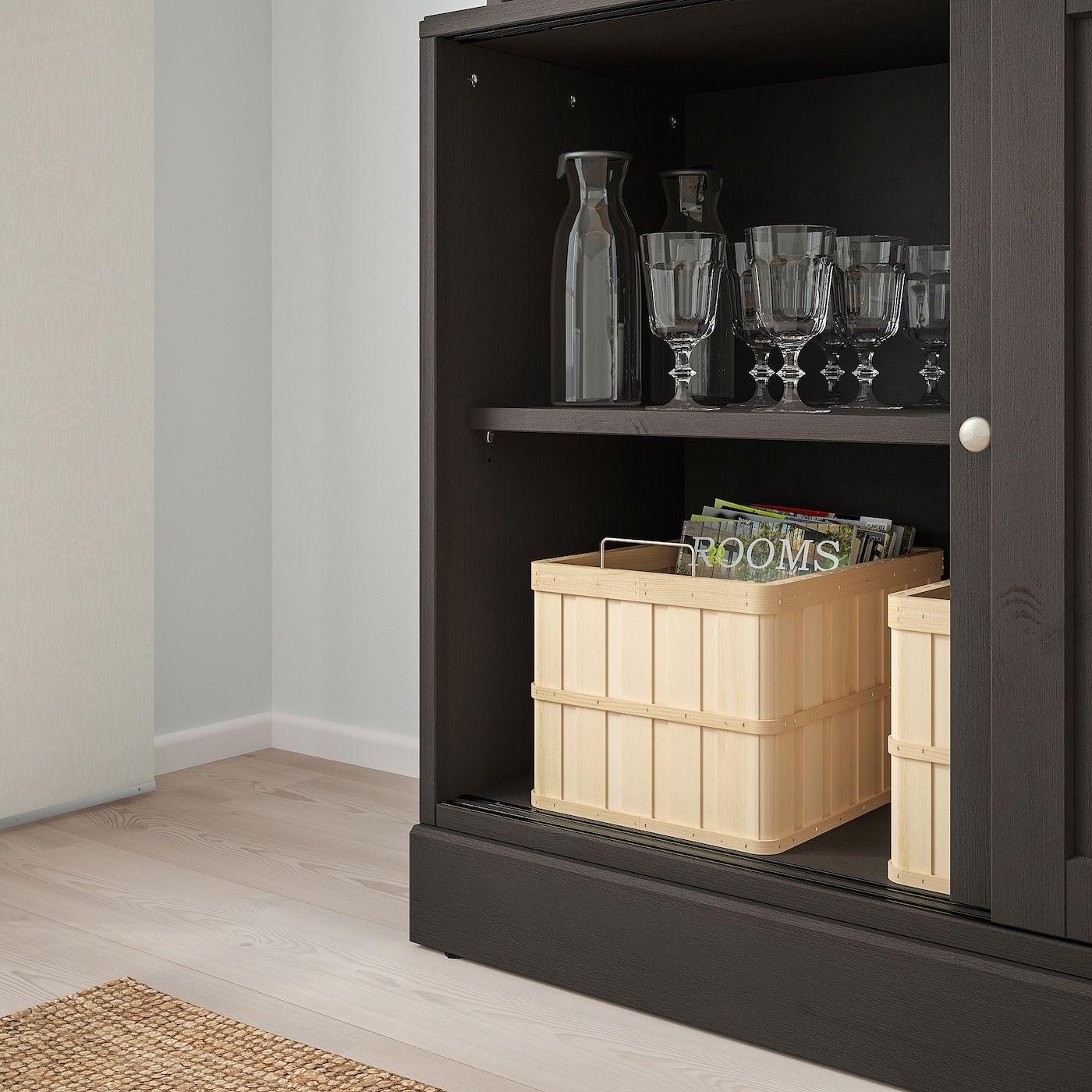 IKEA – HAVSTA Storage with sliding glass doors Dark brown