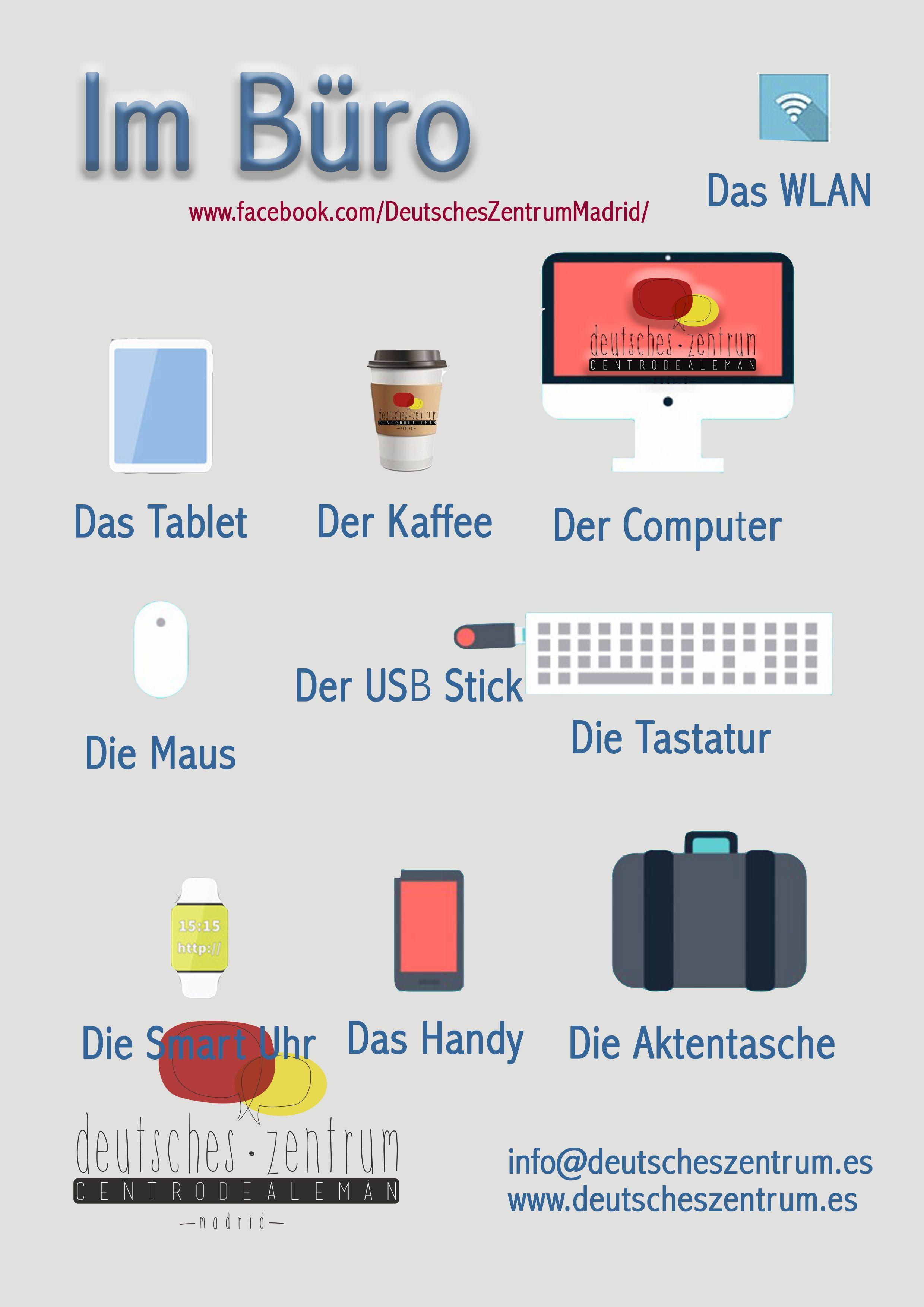 Im Büro Wortschatz Deutsch Grammatik | Deutsch | Pinterest | German ...