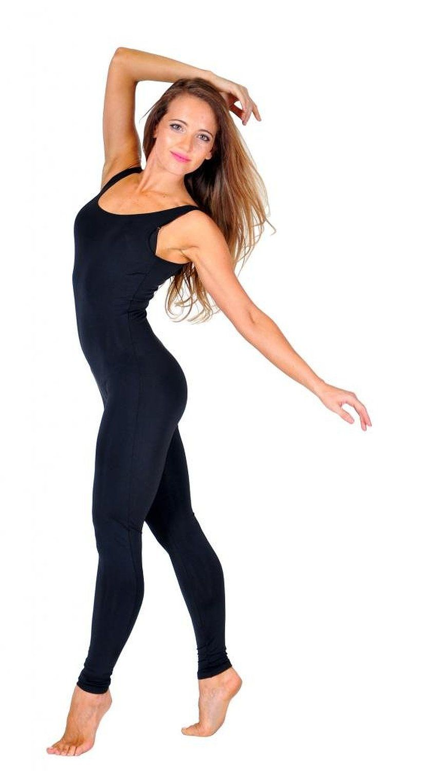 Black spandex dance unitard gymnastics and dancewear - Ensnovo Lycra Spandex Women Unitard Bodysuit Tank Top Tight Suits Dancewear Unitard Dance Costumes Ballet Gymnastics