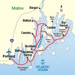 Cruise The Maine Coast And Harbors New England Cruises Maine - Map of eastern maine