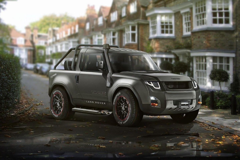 land rover defender pickup 2019 render car renders pinterest. Black Bedroom Furniture Sets. Home Design Ideas
