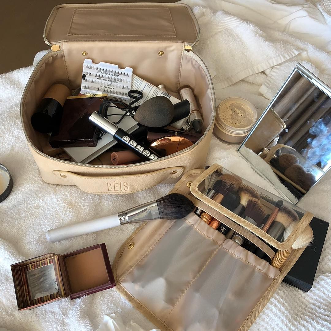 Shay Mitchell on Instagram Makeup bag organization
