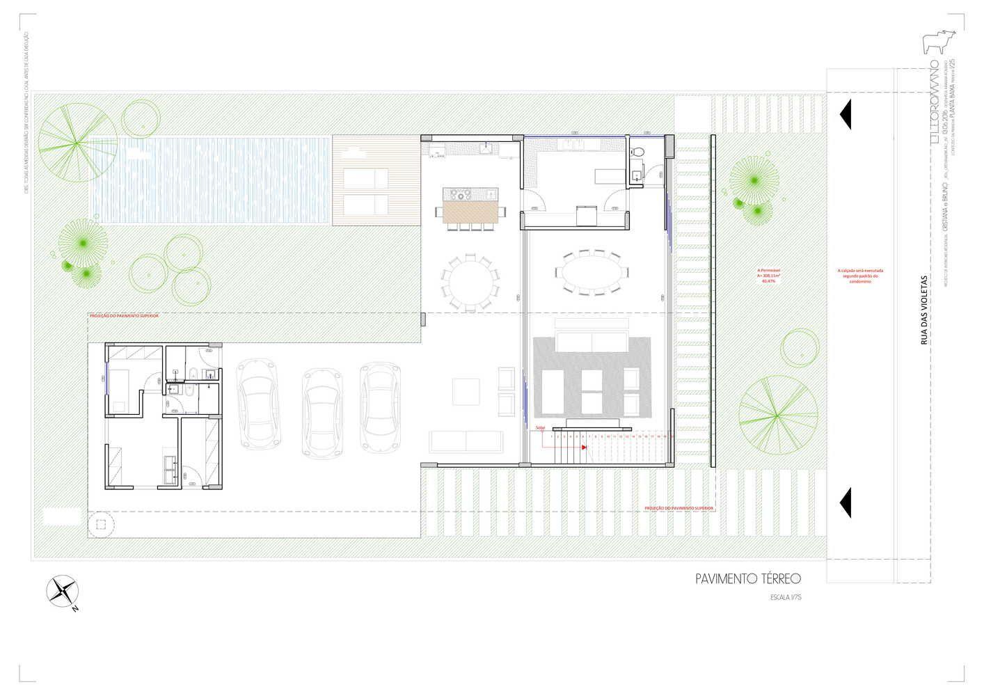 Galeria De Casa Dos Ventos Leo Romano 16 Floor Plans Ground Floor Plan Ground Floor
