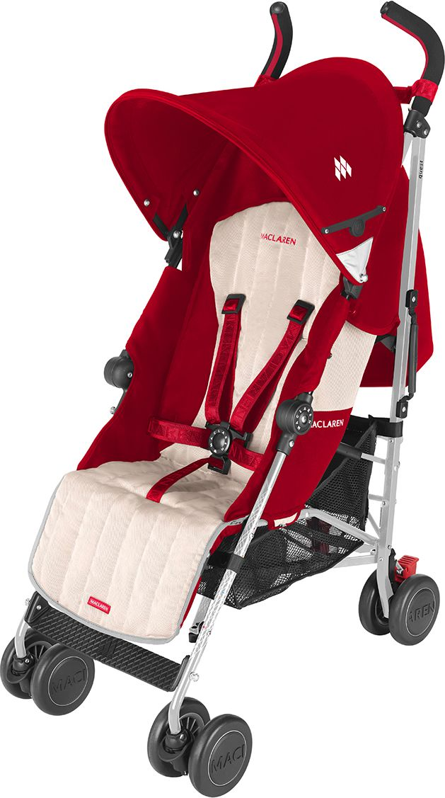 Maclaren Quest Sport Stroller Scarlet Wheat Baby Gear