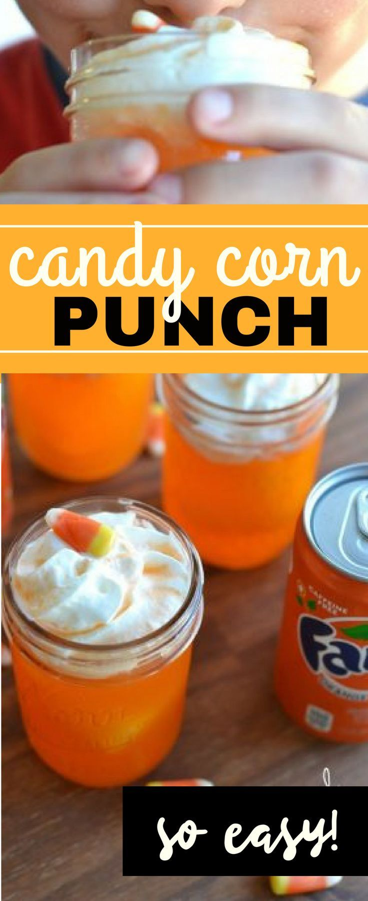 Candy Corn Punch, only 3 ingredients | NellieBellie