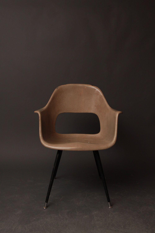 Vintage Mid Century Modern Sturgis Molded Fiberglass Chair   Charleston Molded  Fiberglass Chair Co.