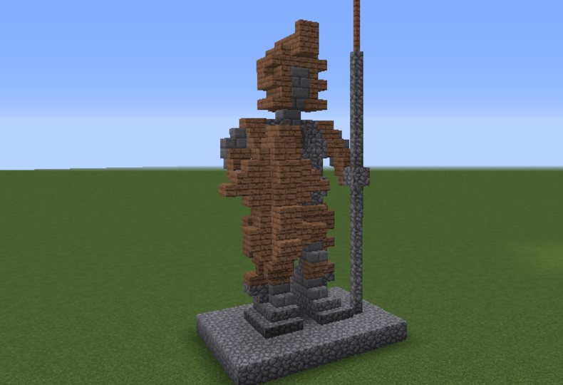 Medieval spearman statue grabcraft your number one source for medieval spearman statue grabcraft your number one source for minecraft buildings blueprints malvernweather