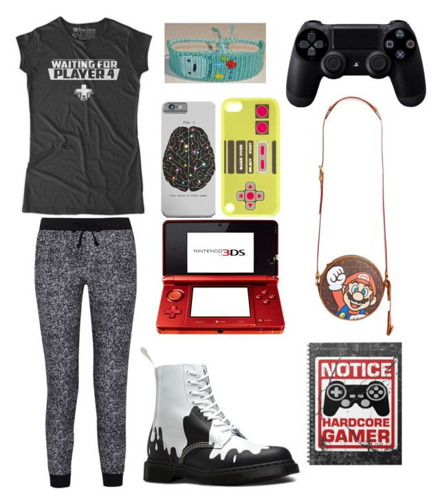 """Gamer"" by landmine888 ❤ liked on Polyvore featuring Splendid, Nintendo, claire's, Moschino, Dr. Martens, Sony, women's clothing, women, female and woman"