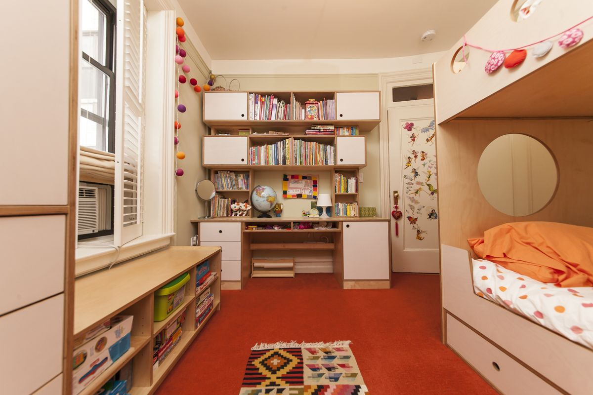 Study Modern bunk beds, Bed, Bookcase wall unit