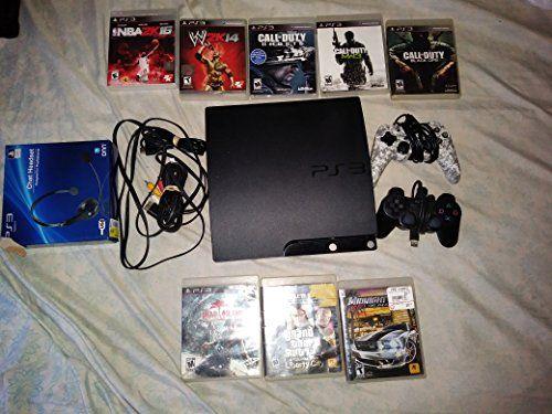 sony playstation 3 super slim 500gb game console system bundle ps3 w