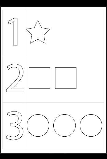 Preschool Numbers And Shapes Printable Worksheets