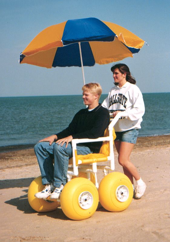 Wish list for my dream vacation: a wheelchair for sandy beaches. This would be so much fun.