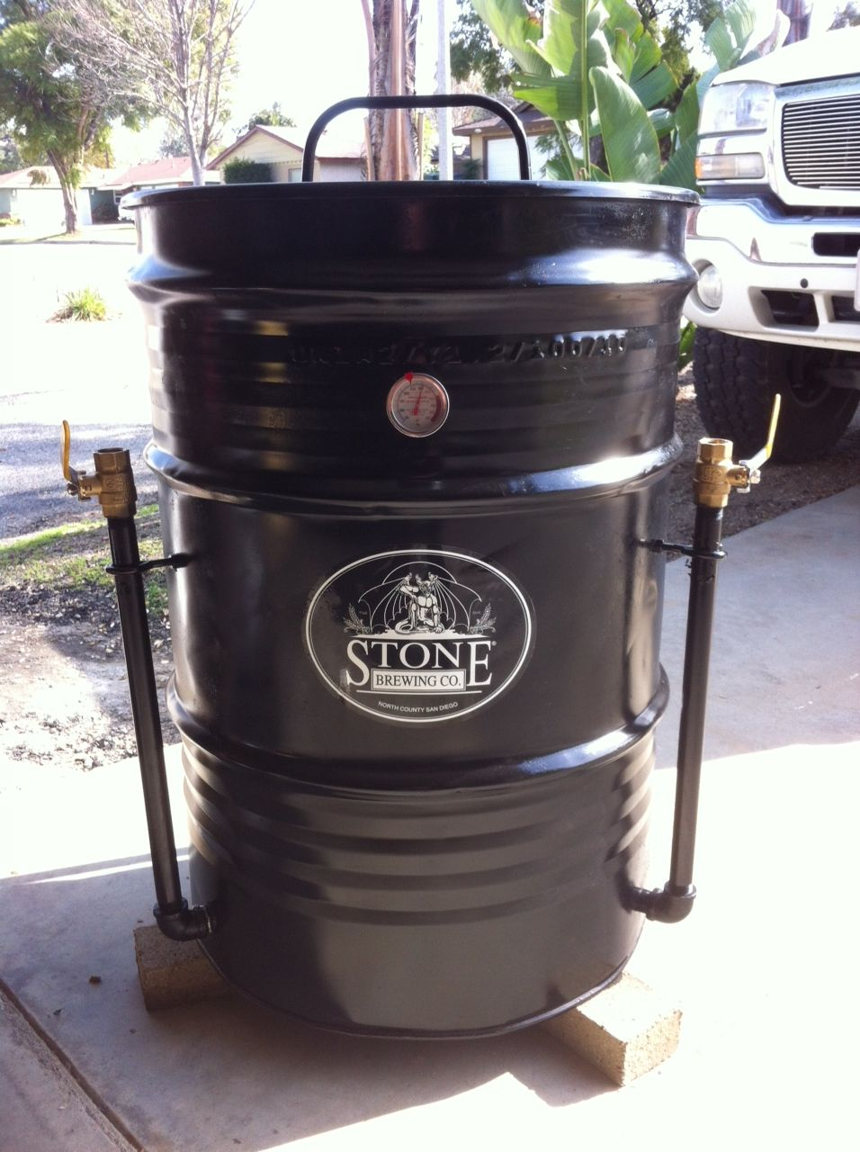 Built In Smoker Outdoor Kitchen: Hubby Built Ugly Drum Smoker! Amazing Food Comes Out Of
